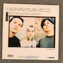Blink 182 s/t LP Clear withPink and Green SPLATTER Etched Side D NM vinyl