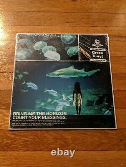 Bring Me the Horizon Count Your Blessings GREEN Vinyl Newbury Comics /500