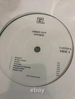 Extremely rare green day dookie original promo green vinyl lp record. 1994
