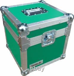 Flight Case Swan 12 Single LP 100 Vinyl Record Box (Green Rigid PVC)