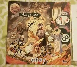 Green Day full band signed autograph Insomniac vinyl record Beckett LOA #A05865