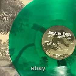 Jurassic Park- 2 x LP Transparent Green Vinyl OOP John Williams