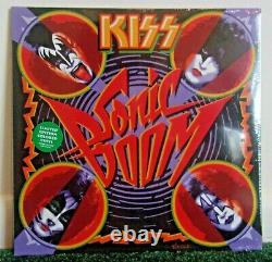 KISS Sonic Boom 2010 Green Vinyl Sealed LP Kiss Records 200902