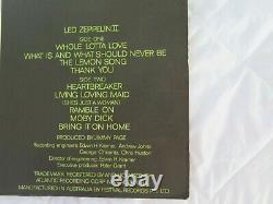 Led Zeppelin II (2) Orig Mega Rare 1969 Misspelling Green Label 1st Press Stereo