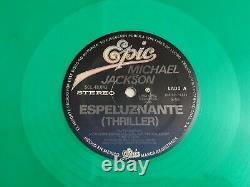 MICHAEL JACKSON Espeluznante THRILLER 1982 mexican GREEN Vinyl 12 ULTRA RARE
