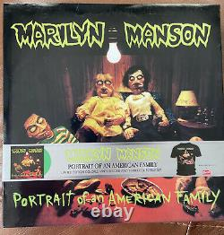 Marilyn Manson Portrait Of An American Family Lime Green Vinyl And Tee Box Set