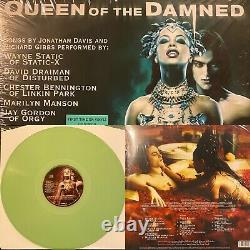 Queen of the Damned Soundtrack Green Colored Vinyl Korn Etched Aaliyah