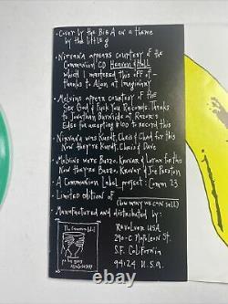 RARE Color Marbled Nirvana / MELVINS split 7 45 Green Vinyl 7 Limited Edition