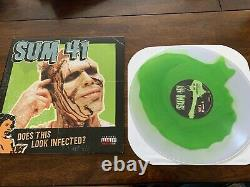 Sum 41 Does This Look Infected Clear with Green Vinyl /1500 green day blink-182
