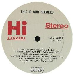 This Is Ann Peebles (1st, 1969) Hi Records Soul Al Green Vinyl Rare northern